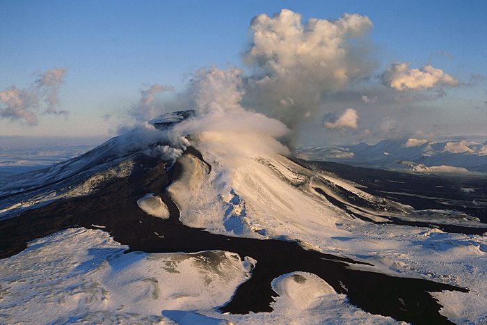 Вулкан Гекла зимой. Фото