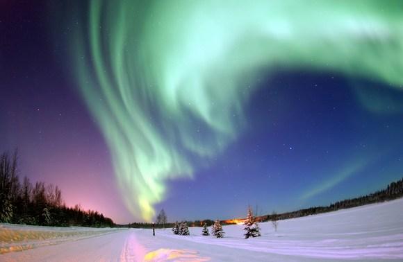 Северное сияние в Исландии. Фото