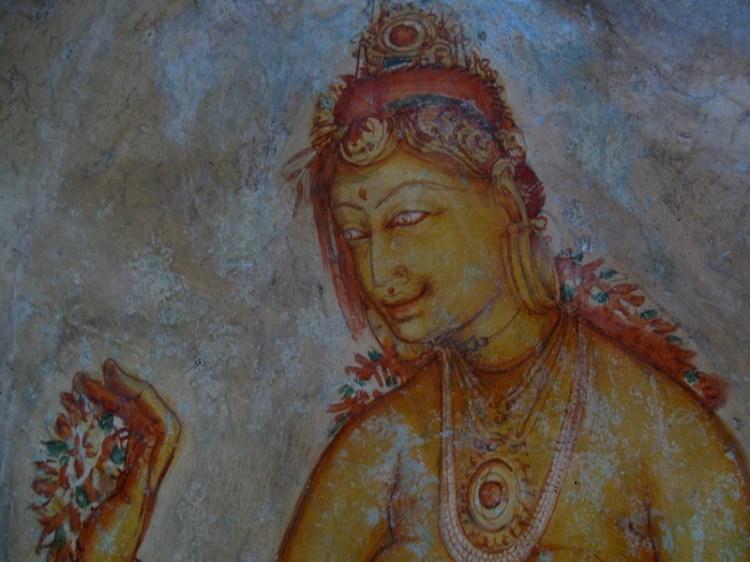 Крепость-дворец Сигирия. Шри-Ланка. Фрески