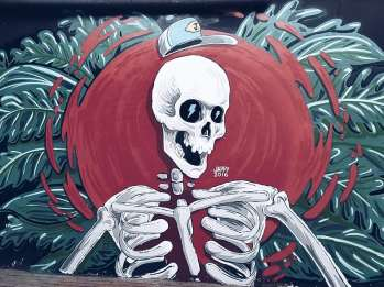 A skeleton painted by Jappy Agoncillo