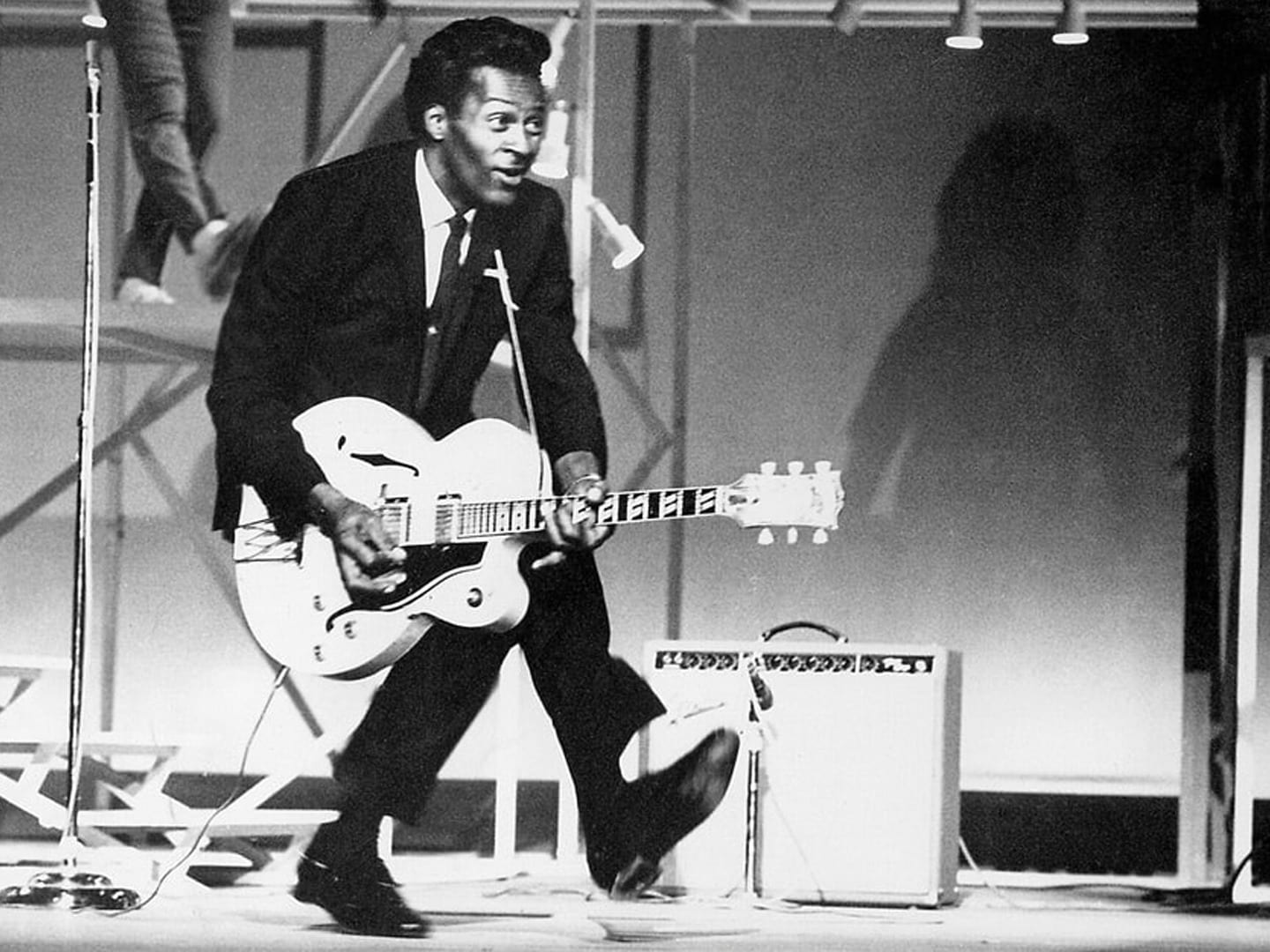 Chuck Berry performing live
