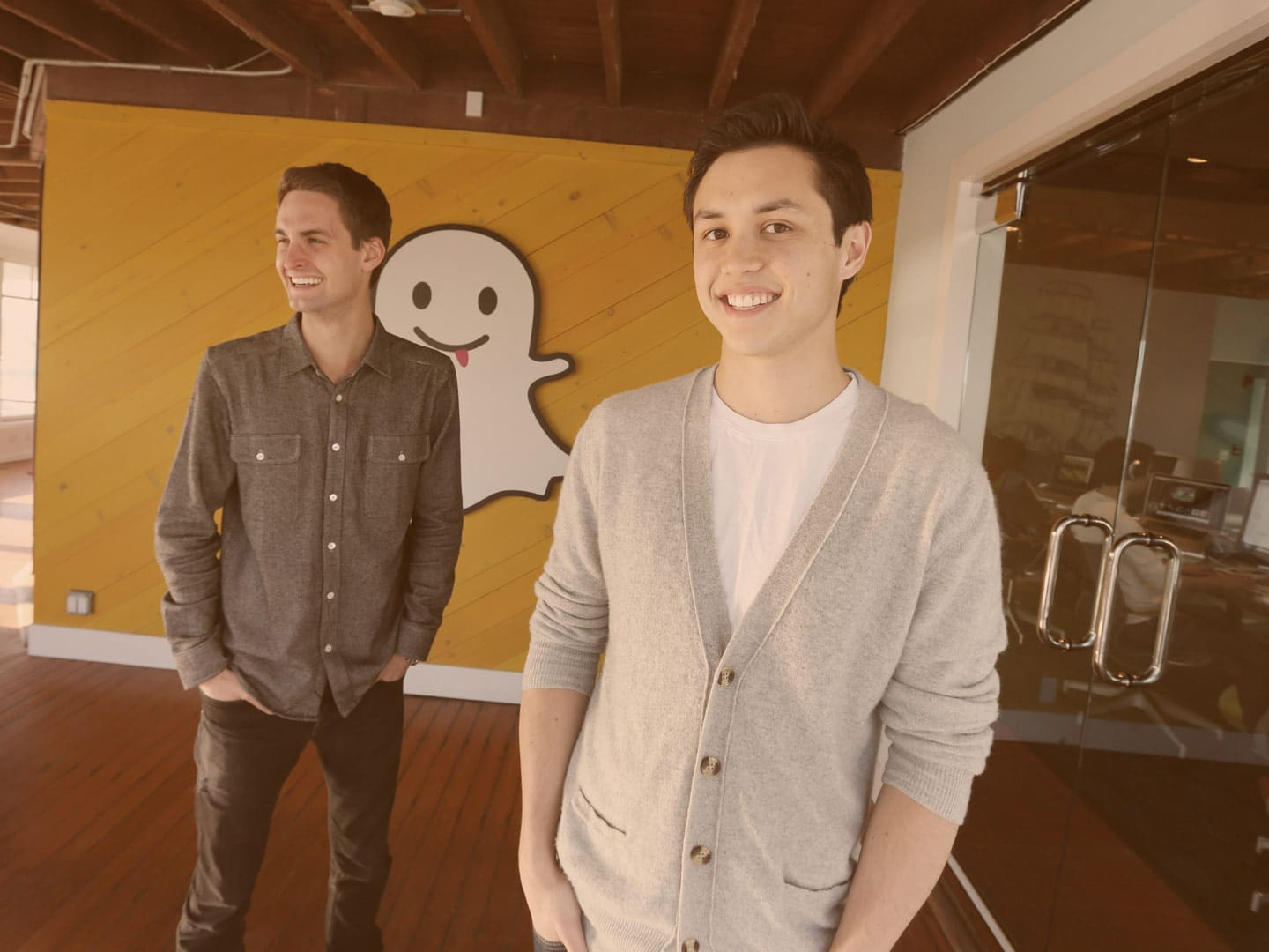 Bobby Murphy with Snapchat founder