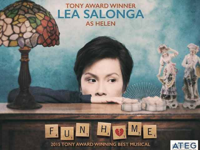 Lea Salonga looking at a slinky in the Fun Home musical poster