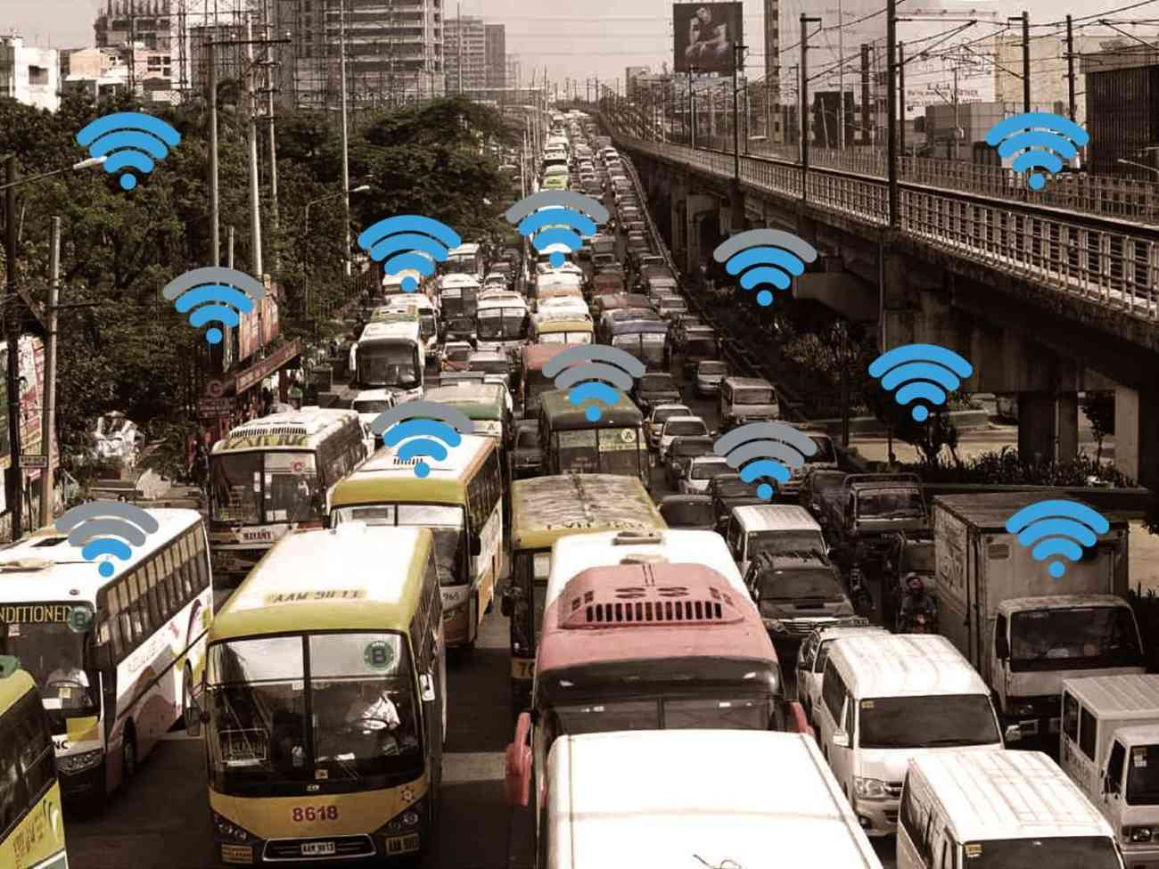 A graphical representation of free WiFi at EDSA