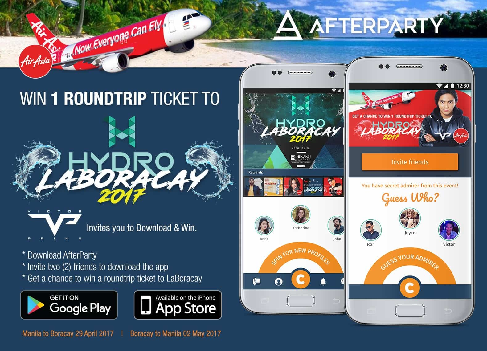 AfterParty AirAsia Victor Pring contest for Hydro Laboracay 2017
