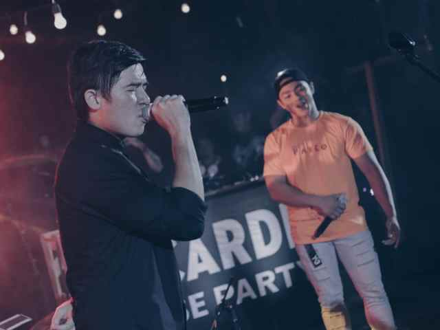 Champ and Victor Pring performing at Bacardi House Party PH