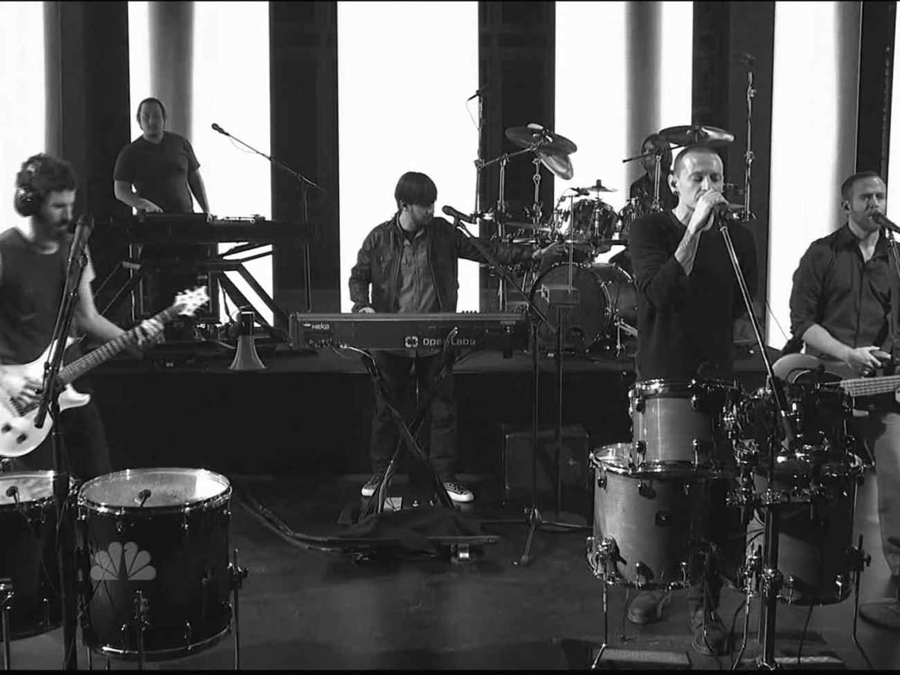 Linkin Park performing live