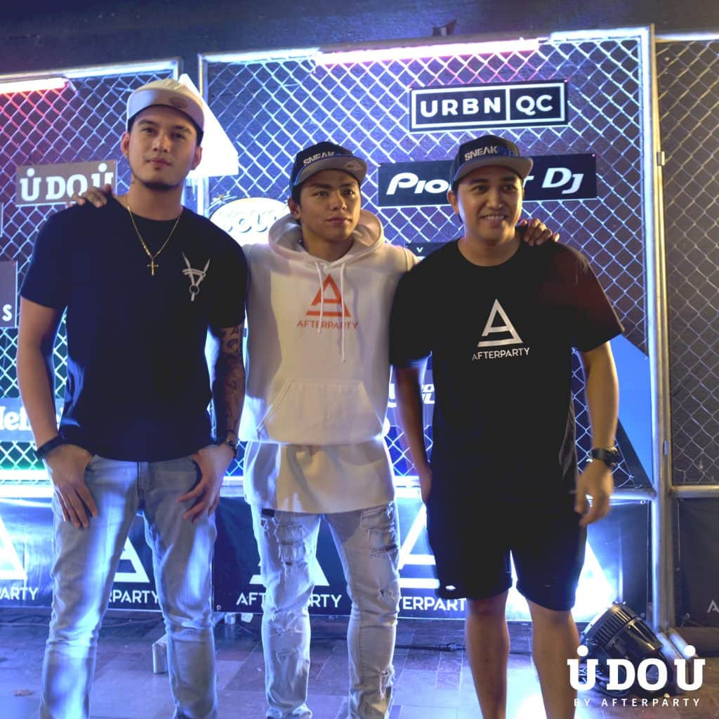 Rocky Ramos, Victor Pring, and Louie Lizardo rocking Heartless Ph at What's Your Cool