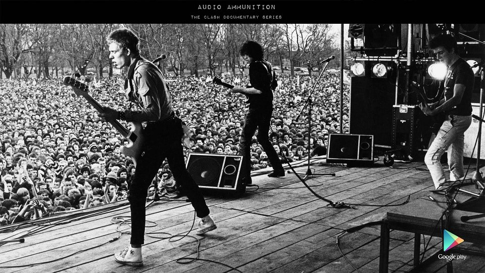 The Clash live wearing Chuck Taylors