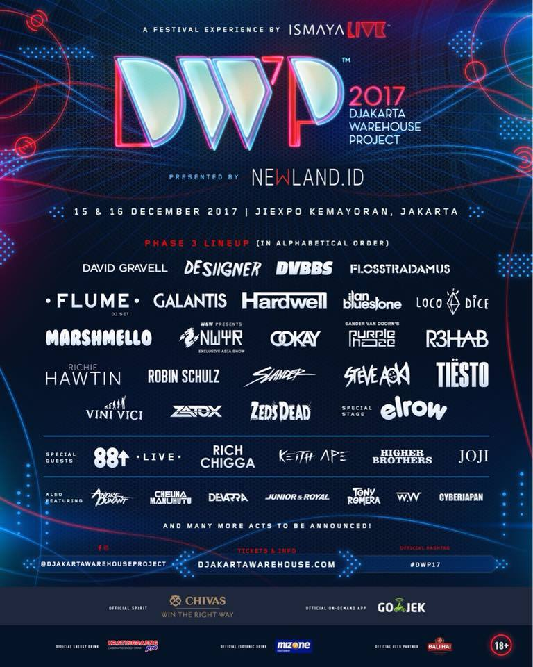 Lineup poster for Djakarta Warehouse Project