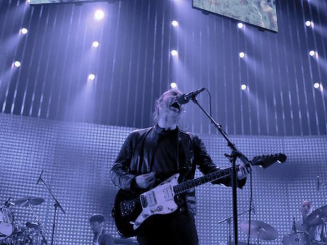 Thom Yorke of Radiohead performing live in Manchester Arena