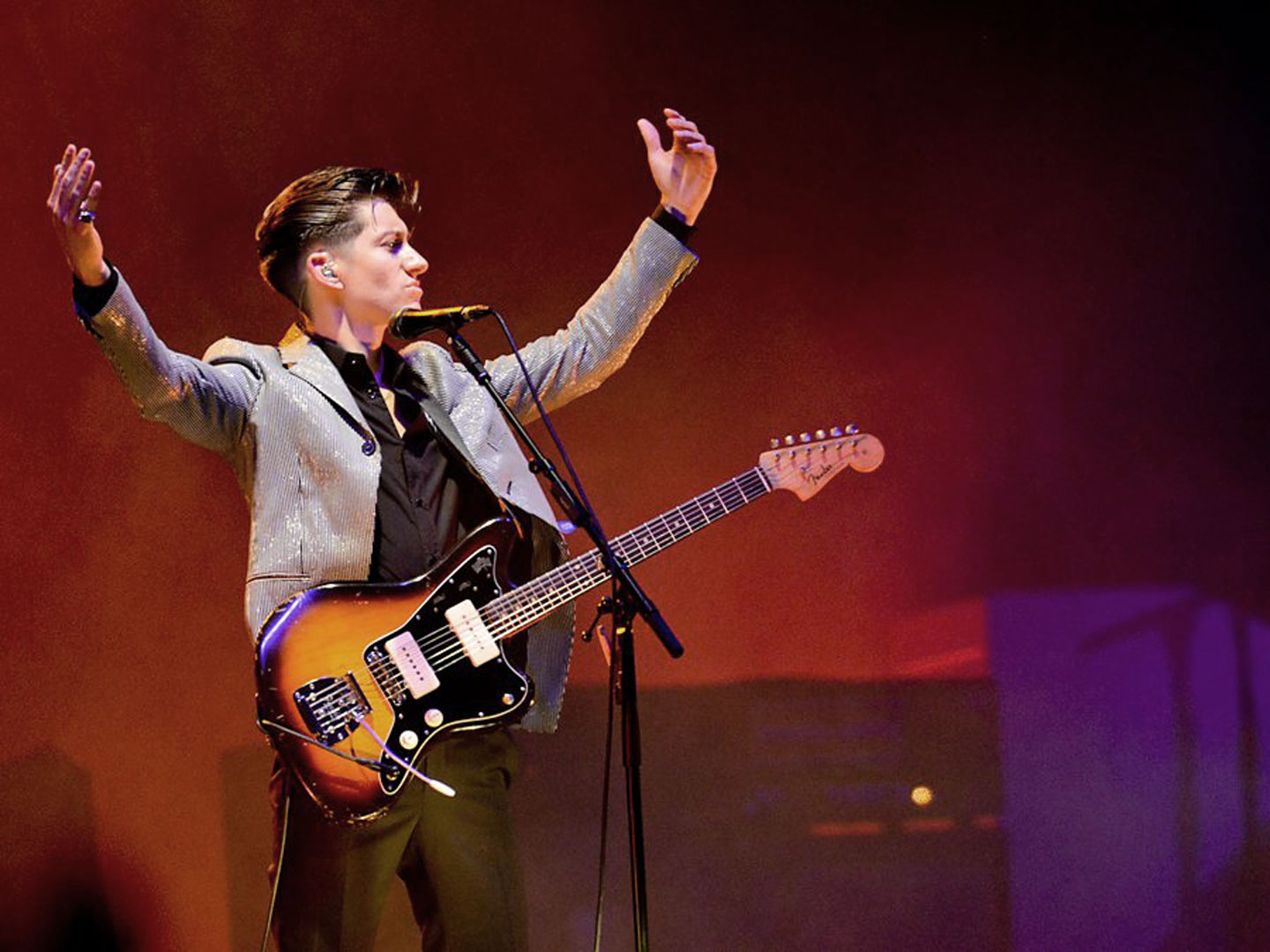 "Arctic Monkeys performing ""R U Mine?"" at Glastonbury Festival 2013"
