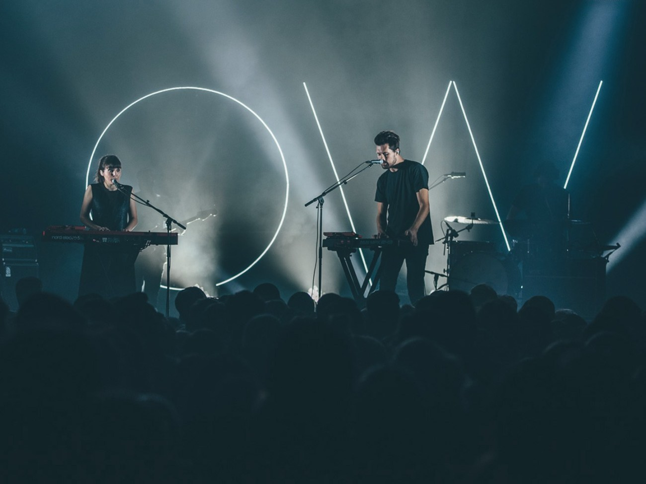 Oh Wonder performing live at Union Transfer in Philadelphia