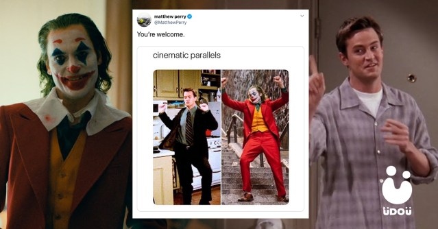 Chandler and Joker Cinematic Parallels Meme U Do U Header