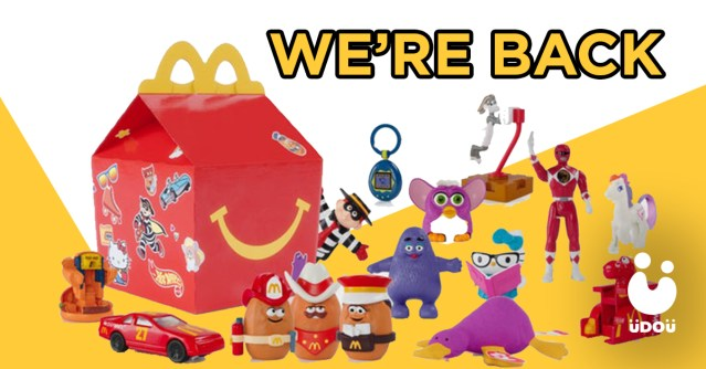 McDonald's Vintage Happy Meal Toys Return U Do U Header
