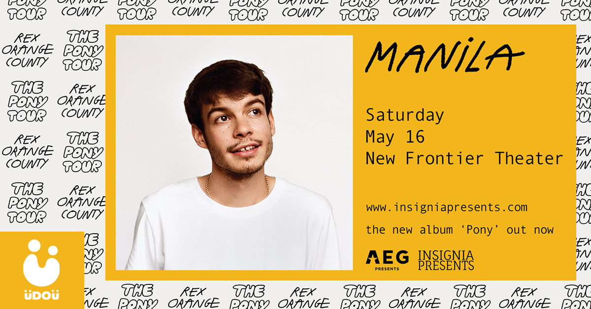 Rex Orange County The Pony Tour Manila U Do U Header