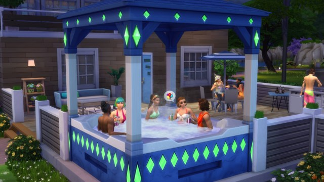 the sims 20th hot tub