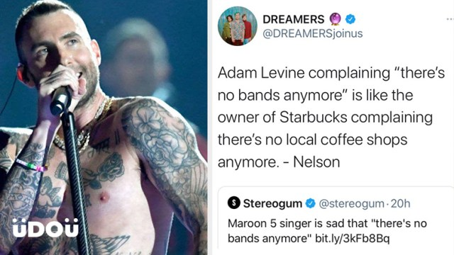 Adam Levine's There's no bands anymore post confuses fans | uDOu PH