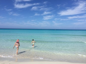 The inviting waters of Playa Varadero