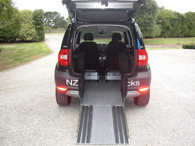 yeti folding chair covers for sale wholesale u drive mobility wheelchair access and by the rear seats fold down to accommodate passengers a removable net prevents luggage or groceries sliding around floor well