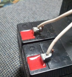 here s the solder joint between the wire and the battery itself the wire didn t fit well so i had to widen the hole a little bit to fit it which explains  [ 1600 x 1200 Pixel ]