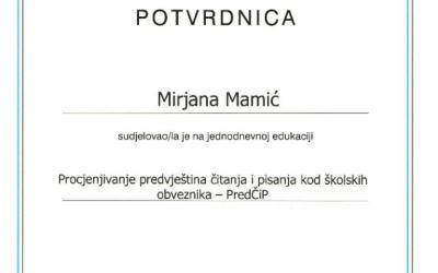 Edukacija stručne suradnice Udruge Dyxy  Mirjane Mamić