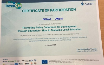"""KONFERENCIJA """"PROMOTING POLICY COHERENCE FOR DEVELOPMENT THROUGH EDUCATION: HOW TO GLOBALIZE LOCAL EDUCATION?"""""""