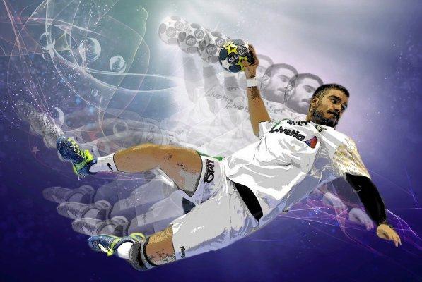 Handball action illustration