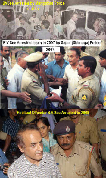 Sleazy journalist B V Seetharam is a habitual offender - with such an impressive arrest history is it surprising police handcuffed him?