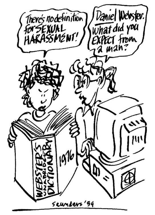 Workplace sexual harassment cartoons