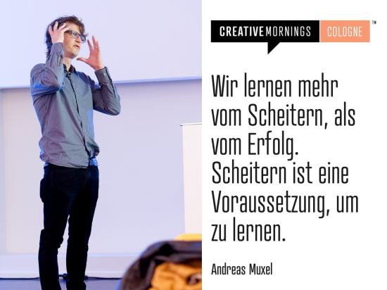 CreativeMornings Cologne mit Andreas Muxel