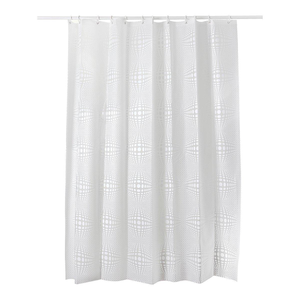 Healfit Mildew Resistant Shower Curtain Liners W Ith Hooks Waterproof Anti Bacterial 72X78