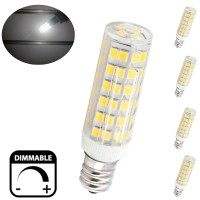 6W E12 Candelabra LED Bulbs, 50W Equivalent T3/T4 ...