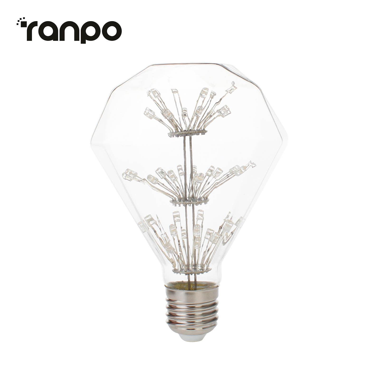 E27 Edison Led Filament Bulb G125 St64 A60 Star Lights