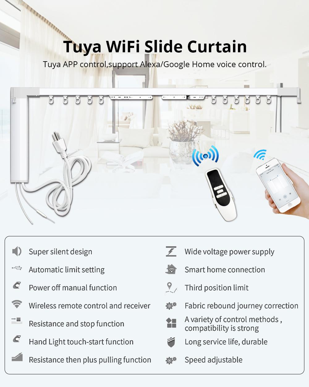 Smart Curtain Customized Electric Curtain Motor With