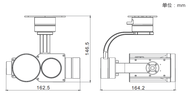 PZ30TIR-50 Dual Sensor EO-IR 30x Optical Zoom Camera
