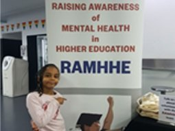 Raising Awareness of Mental Health in Higher Education RAMHHE at a tea break