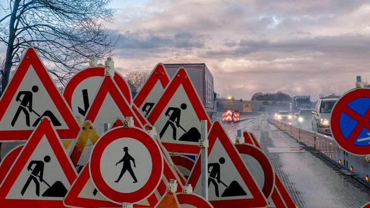 Verkehrsbehinderungen auf den Bundesstraßen