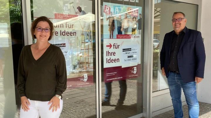 Neue Plakate in Uelzen: Stadtmarketing bietet Unterstützung zur Vermarktung freier Gewerbeflächen in der Innenstadt