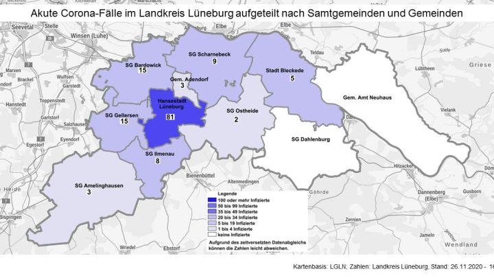 Corona-Update: Heute 27 neue Fälle im Landkreis Lüneburg
