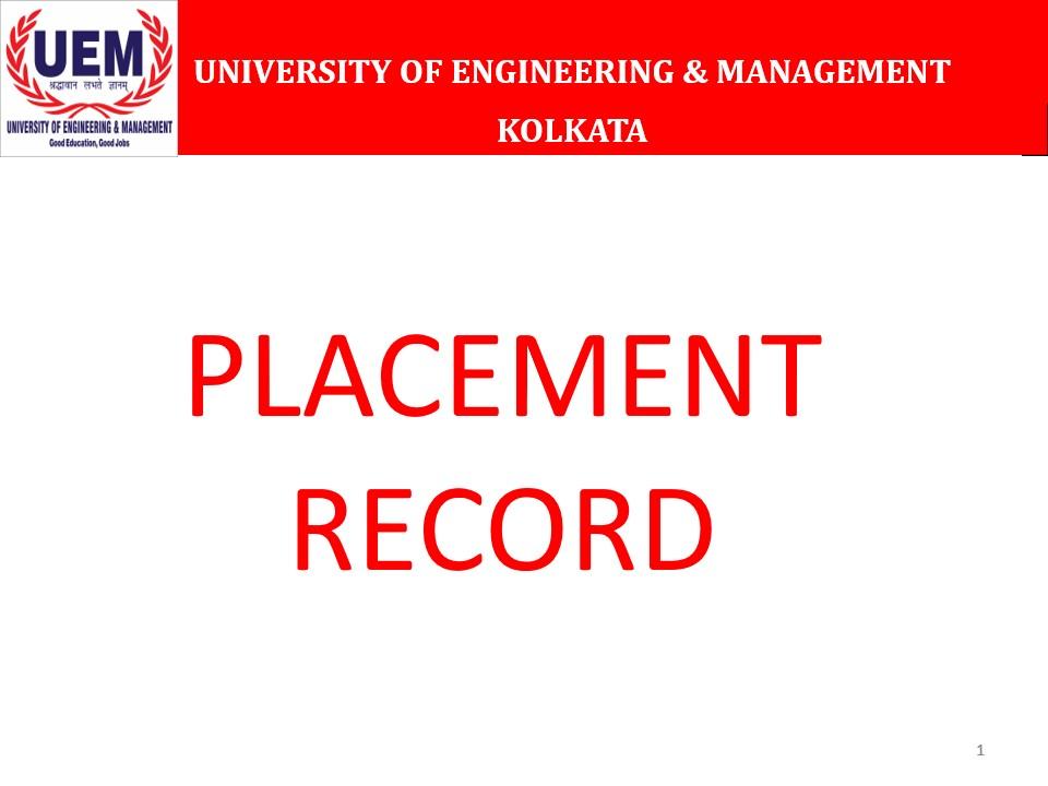 Placements - UEM Kolkata