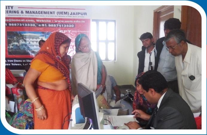 Medical Camp Conducted by UEM at Niwai in Tonk Distt. (Raj.)