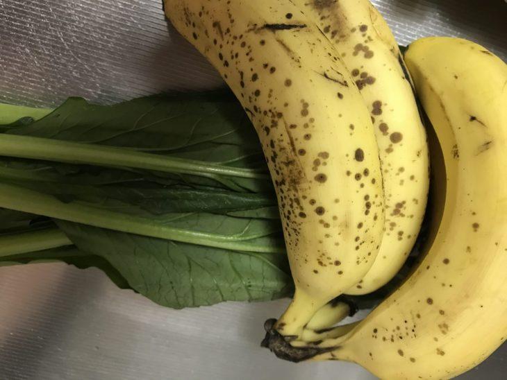 今日のスムージー 2017.08.26. 定番の小松菜とバナナのスムージーを復活