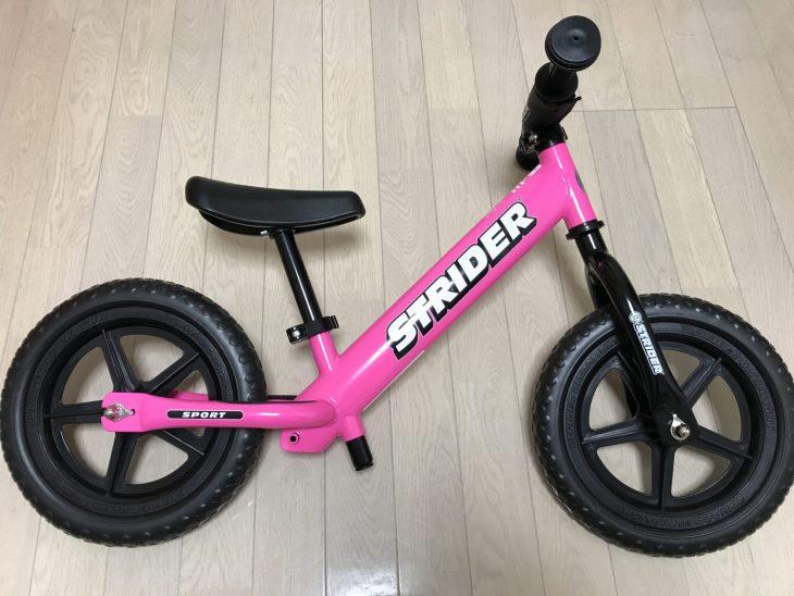 STRIDER(ストライダー)をゲット くるりんはピンクをチョイス 乗りこなして大会に挑戦だ! #7blogs