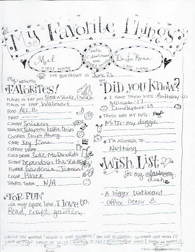 Teacher and Staff Favorite Things