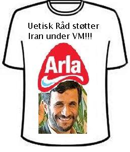 Uetisk Råd støtter Iran under VM!!!