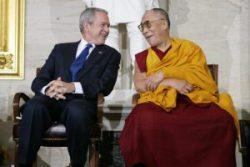 Dalai Lama og George Bush