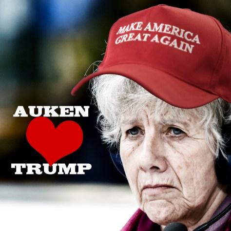Auken elsker Trump. Let's make America great again