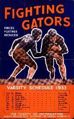 1933 varsity football games