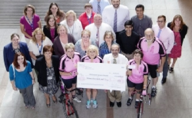 Pink Pumpkin Pedal Off Gift Spurs Breast Cancer Research
